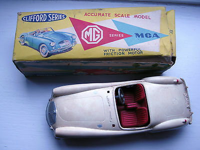VINTAGE CLIFFORD SERIES TOYS Plastic  MG TOY CAR( friction )