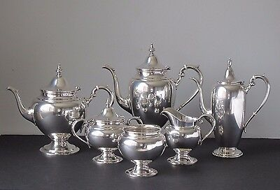 Gorham Sterling Silver Puritan 6-Piece Tea & Coffee Set No Monograms