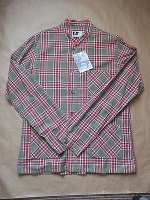 Chemise homme Engineered Garments Dayton shirt red and green cotton made in USA