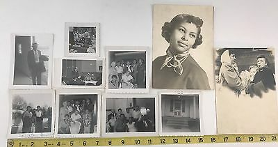 Lot Of Various B&W Photos Of African Americans And Family