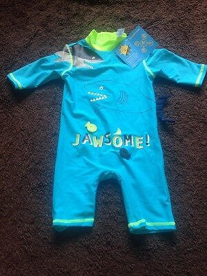 BNWT Baby Boys 9-12 Months UPF 50+ Turquoise Swim Suit