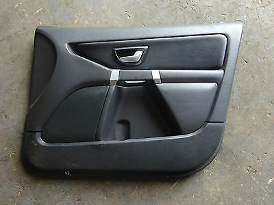 2007 Volvo XC90 facelift right front door black leather interior card