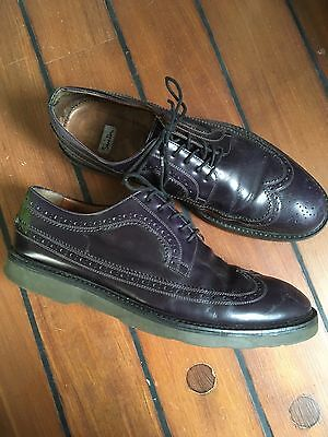 Paul Smith Men's Brogue Shoes Purple Washed Black Uk 9 43