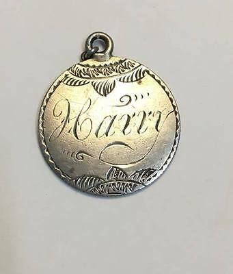 """Antique Authentic Love Token 1889 Seated Liberty Silver Dime Engraved """"Harry"""""""