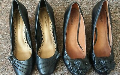 Two pairs of women's black shoes size 7