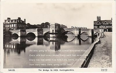 The Bridge & Man With Seven Wives, ST. IVES, Huntingdonshire RP