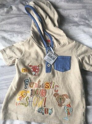 NEW With Tags Boys T-Shirt With Hood 9-12 Months