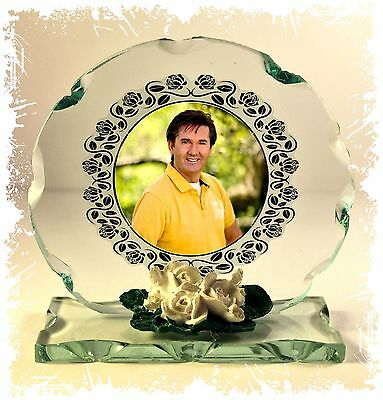 Daniel O'Donnell glass Photo custom made Edition  ideal gift for the fan
