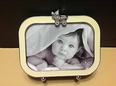 Mud Pie FRAME  Photo Baby Boy Girl Newborn Gift Keepsake NWT