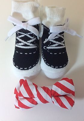Mud Pie Baby Boys Bow Tie & Booties Socks Size 0-12 Months Christmas Holiday New