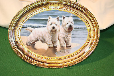 "Franklin mint Westie limited edition collection plate ""Shore pals"""