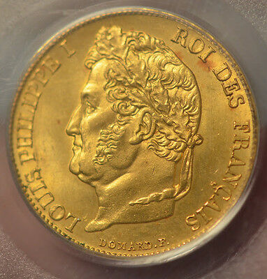 20 Francs OR GOLD L. Philippe 1848 A MS: 65 ***FDC****