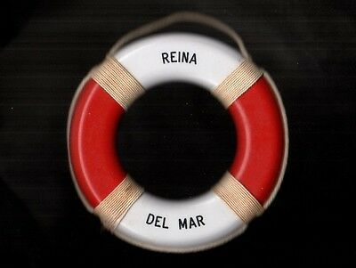 REINA del MAR Royal Mail Union CASTLE Line 60s Souvenir Life Ring Preserver Buoy