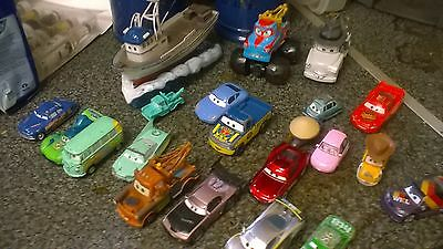Disney cars huge  die cast bundle + rare crabby the fishing boat
