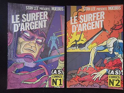 MOEBIUS EO SURFER D'ARGENT 2  COMICS GIR GIRAUD STAN LEE (AS) Comics N°1 & 2 TBE
