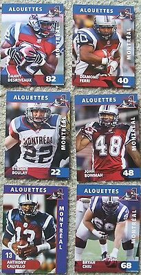 Montreal Alouettes (CFL football) cards - team issue