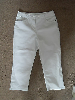 New Look Cropped White Stretch Jeans Age 13