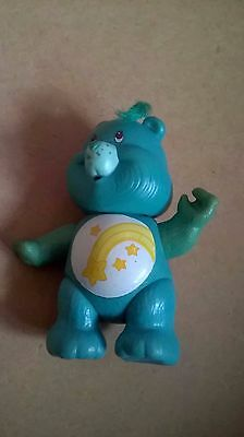 care bear wish bear green 1980s toy vintage poseable