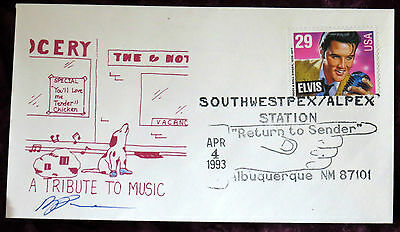 Elvis Presley Apr 4Th 1993 First Day Cover Alburquerque