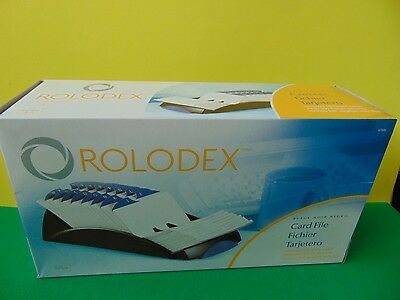 """New Genuine Rolodex 67032 Black Card File with 500 3 x 5"""" Cards & Index tabs"""