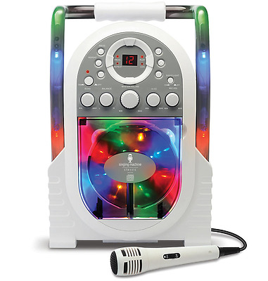 Singing Machine Portable Karaoke with Built-in Light Show Kids Party Atmosphere
