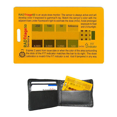 RADTriage 50 Personal Radiation Detector for wallet or pocket. FREE SHIPPING.