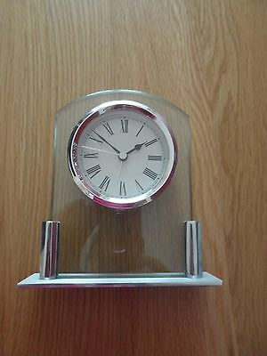 Small Silver clock M and S Good working order
