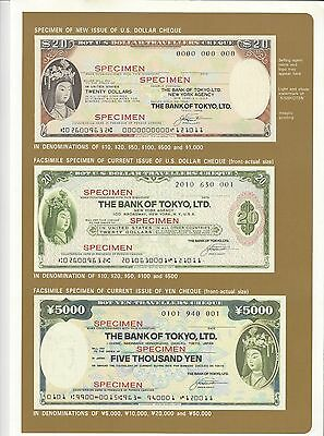Specimen Bank Of Tokyo Travelers Check In Booklet Of Issue   Nice Unc