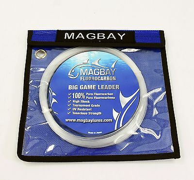 100% FLUOROCARBON BIG GAME LEADER 150 lbs 30M Coil (33 Yds) - REPLACES SEAGUAR
