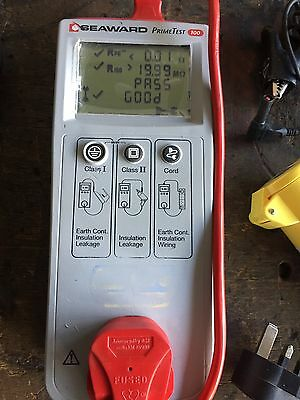 Seaward Primetest 100 PAT Tester With Cables And Carry Case. Full working order.