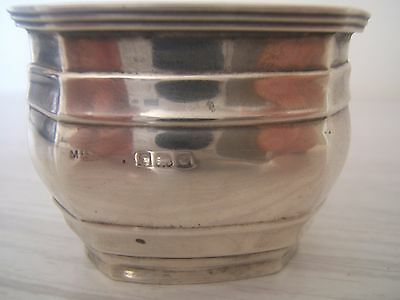 Solid Silver Condiments Mustard/salt Pot 1833?