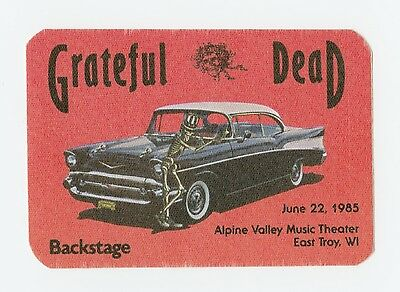 RARE Grateful Dead Backstage Pass 6/22/1985 Alpine Valley Music Theater Cadillac
