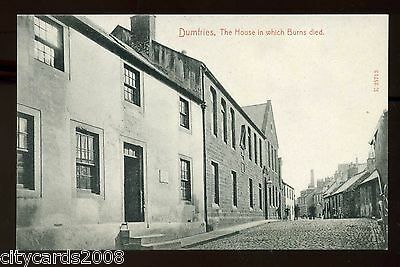Scotland  DUMFRIES   The House in which Burns died & Surounding Houses