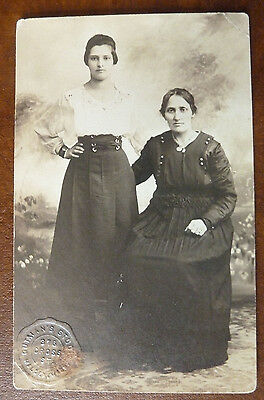 Vintage Real Photo Postcard- Family Portrait