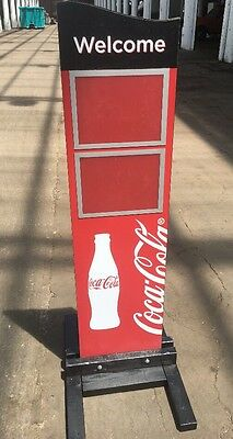Collectable Coca Cola Sign Free Standing Welcome Board