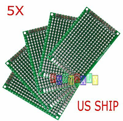 5pcs 4x6 cm Double Side DIY Prototype Circuit Breadboard PCB Universal Board