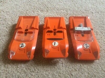 Job Lot Set Of 3 Vintage Scalextric Electra Body Shells Spair Repair Slot Cars