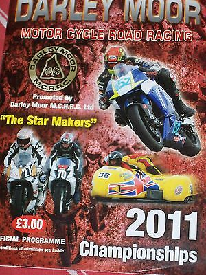 Programme Darley Moor Motor Cycle Road Races  Bank Holiday Monday 29th Aug 2011