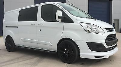 67d356aa76eff1 Ford Transit Custom 310 130ps Limited L2 Lwb DCIV Double Cab in Van Crew Q  Sport