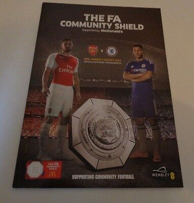 FA COMMUNITY SHIELD 2015 Arsenal v Chelsea Programme