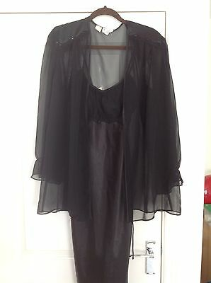 Nightdress with Sheer dressing gown  S & M