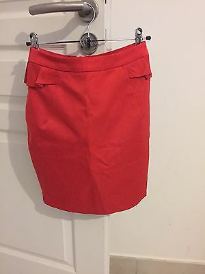 Jupe Crayon H&M Taille 34 Rouge