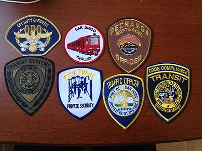 California Police Patch Lot