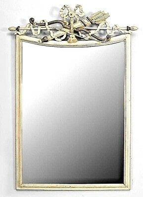 Italian Neo Classic Style (Modern) White Painted and Grey Trimmed Wall Mirror