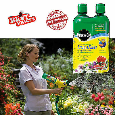 Miracle-Gro LiquaFeed All Purpose Plant Food Starter Kit Grows Plants Big 2 Pack
