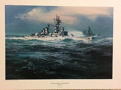 1970 C.G. Evers - Lithograph Print - USS Claude V. Ricketts (DDG-5) Vietnam Ship