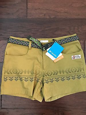 NEW Women's Columbia Sandy River Cargo Shorts Camp Hike Green Omni Shade