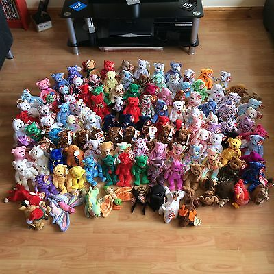 Ty Beanie Babies Bears Rare Collectible Retired Toys