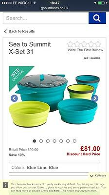 Sea to Summit X-Set 31 Collapsible 2 Person Cook Set Camping Set
