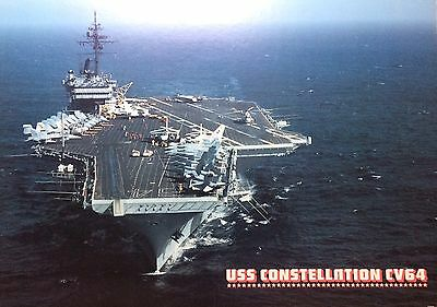 "1980's - USS CONSTELLATION (CV-64) ""Connie"" - 36"" x 24"" Lithograph"